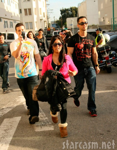 Jersey Shore cast in Venice lead by Snooki, The Situation and Vinny