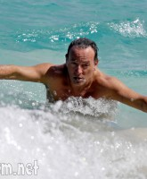 Bruce Springsteen shirtless in St. Barts Picture Twenty-Two