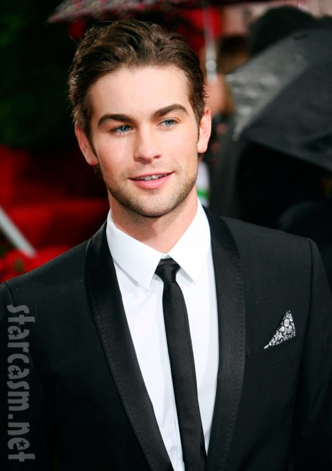 Chace Crawford arriving at the Golden Globe Awards