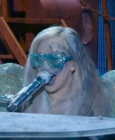 Lady Gaga performs at the 2010 Grammy Awards