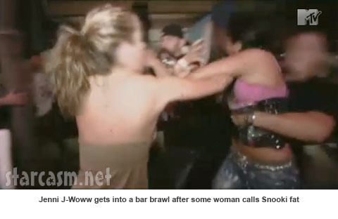jersey shore girls snooki. J-Woww attacks another girl