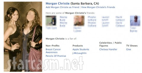 Jon Gosselin's girlfriend Morgan Christie's Facebook profile