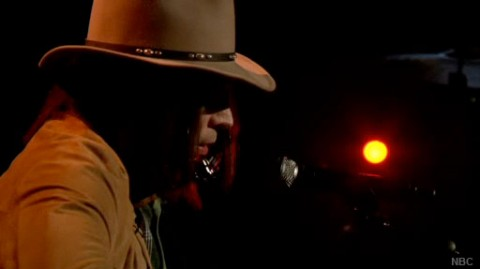 Neil Young sings Pants On The Ground on Late Night With Jimmy Fallon