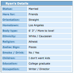 Ryan Callahan Myspace Details
