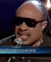 Stevie Wonder sings Bridge Over Troubled Water on the Haiti relief telethon