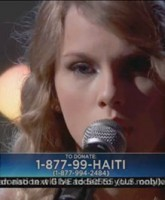 Taylor Swift sings Better Than Ezra's Breathless for Haiti telethon