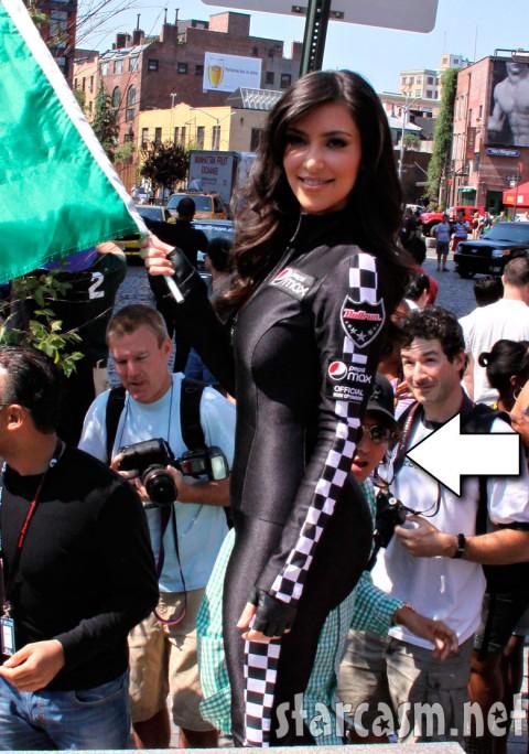 An onlooker gazes in wild wonder at Kim Kardashian's butt