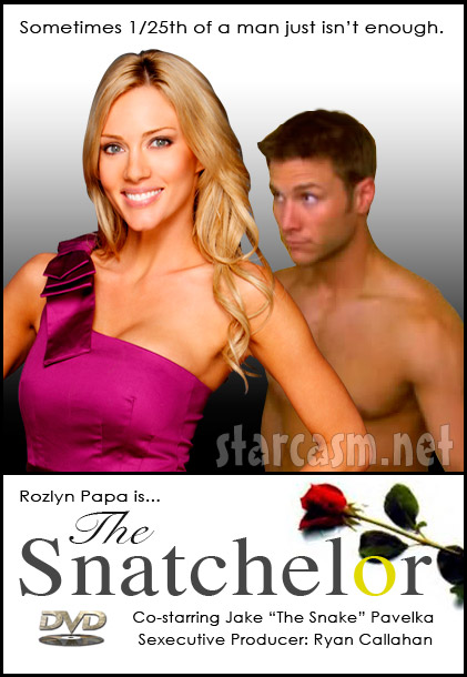 Rozlyn Papa stars in a sex tape DVD called The Snatchelor co-starring Jake The Snake Pavelka