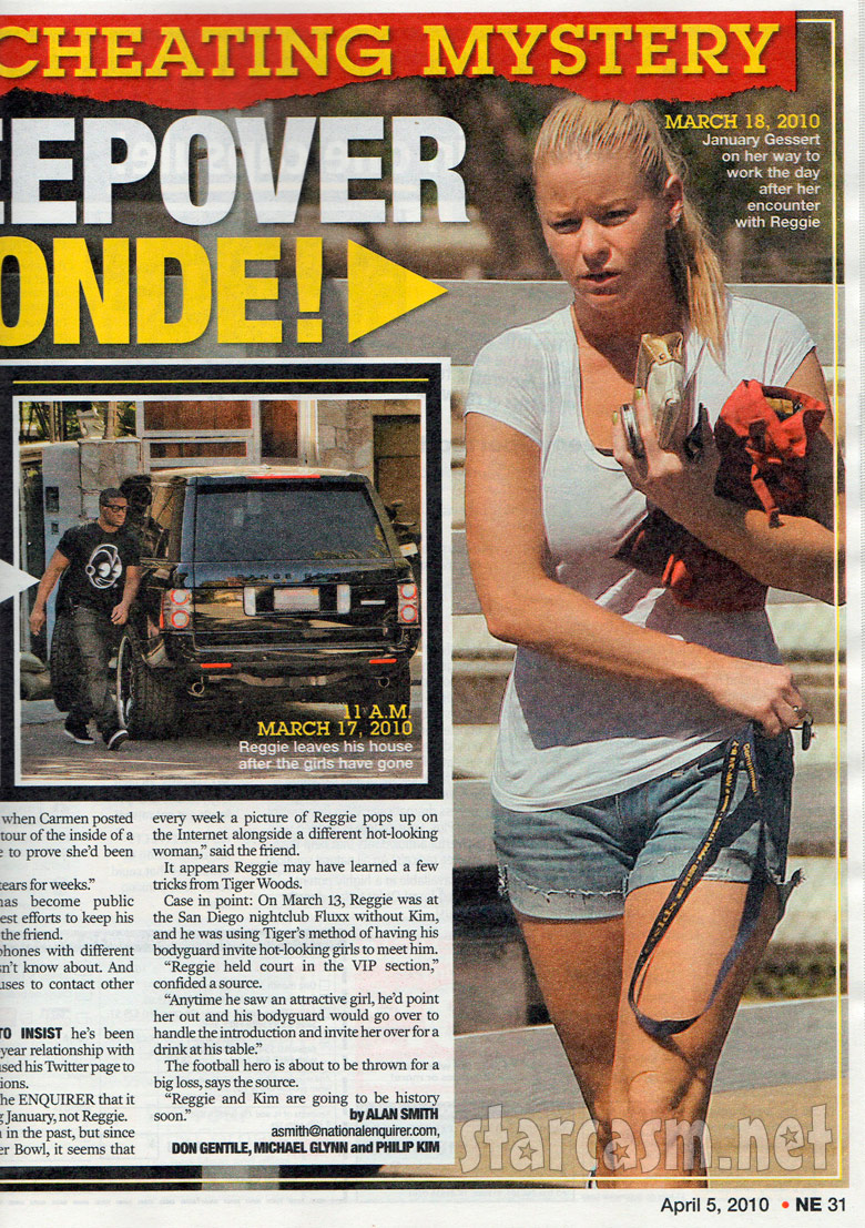 Alleged Reggie Bush mistress January Gessert in The National Enquirer