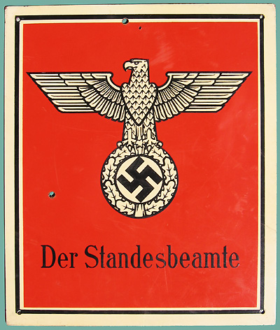 Nazi sign from the World War II era