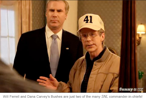 Will Ferrell and Dana Carvey as George Bush for Funny or Die