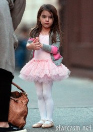 Suri Cruise looks a little sad in her ballet tutu
