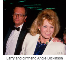 Larry King and Angie Dickinson