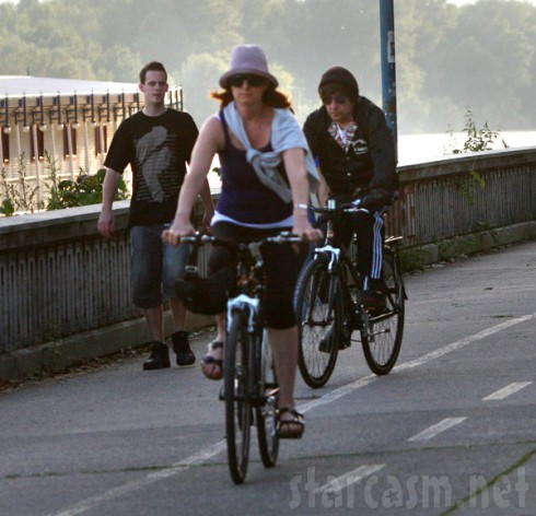 Bob Dylan riding a bicycle in Slovakia photo 2 of 5