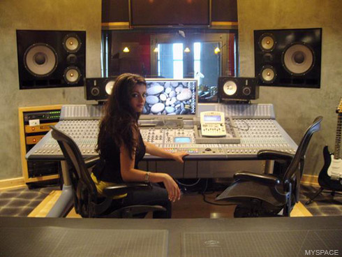Bebe Rexha in the studio