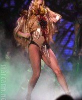 Another sexy Monster Ball Tour costume worn by Lady Gaga