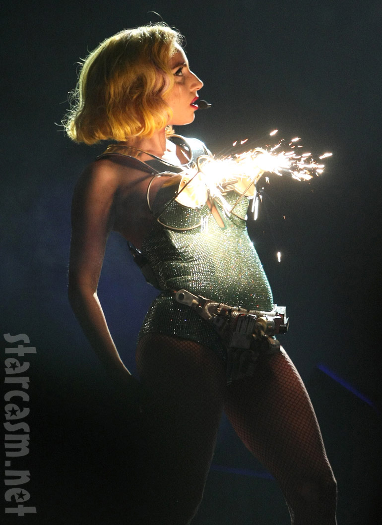 Lagy Gaga's exploding breasts