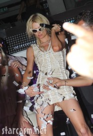 Paris Hilton wasted and showing off her panties picture 4
