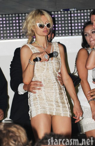 Paris Hilton completely smashed drunk in France July 23, 2010