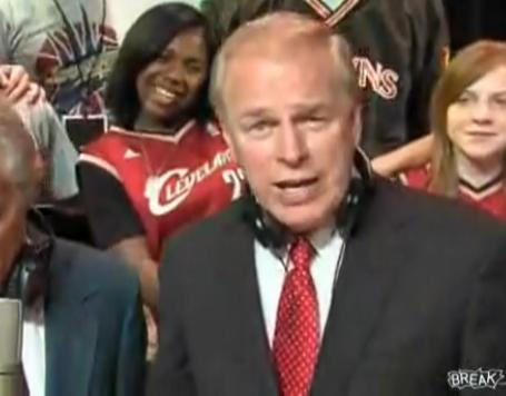 Ohio Governor Ted Strickland sings in We Are LeBron James music video