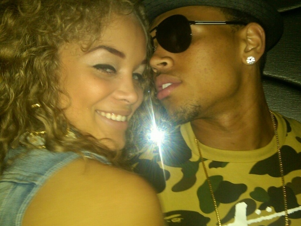 Golden Barbie and ex-boyfriend Chris Brown
