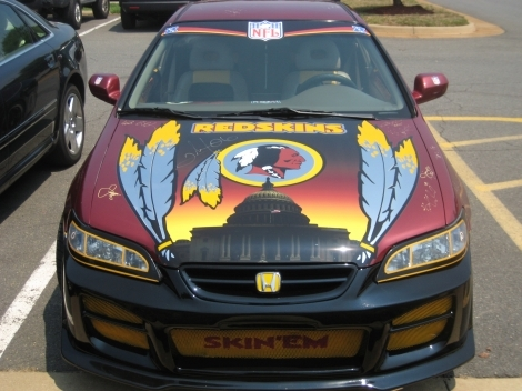 PHOTOS Autographed Washington Redskins car for sale on Ebay - starcasm.net