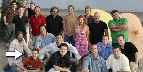 ... 12's Matt Hoffman and the rest of the cast from Average Joe 4 in 2005