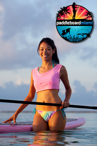 Brenda Lowe is spokesmodel and founder of Paddleboard Miami