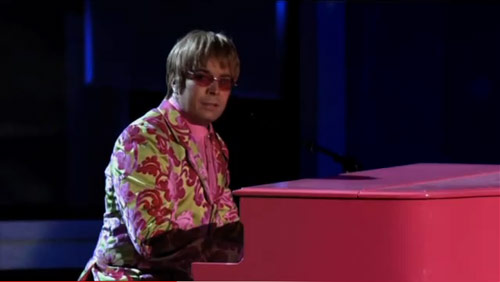 Jimmy Fallon as Elton John at the 2010 Emmy Awards