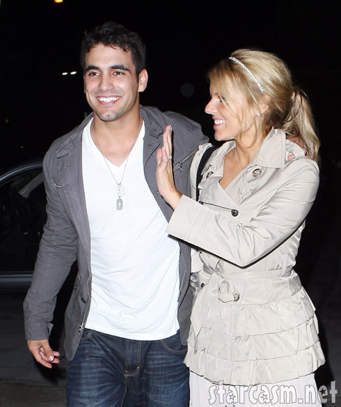 Roberto Martinez and Ali Fedotowsky seem quite affectionate in LA August 2, 2010