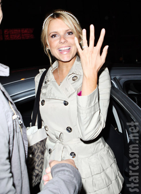 Ali Fedotowsky's engagement ring from Roberto Martinez