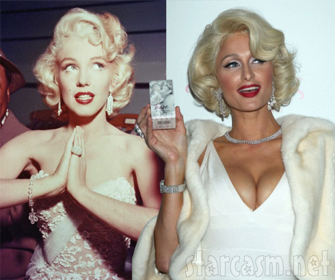 Marilyn Monroe and Paris Hilton as Marilyn Monroe