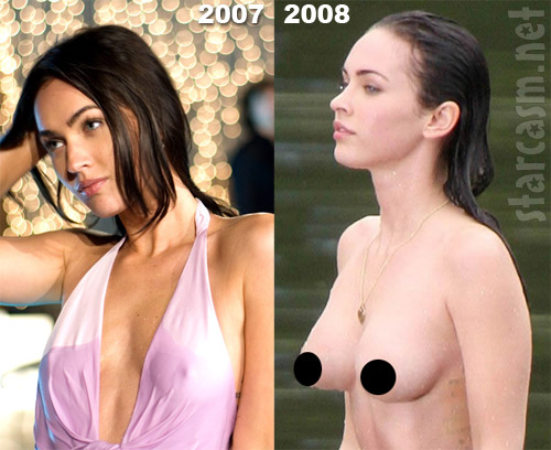 Megan Fox before and after boob job photos