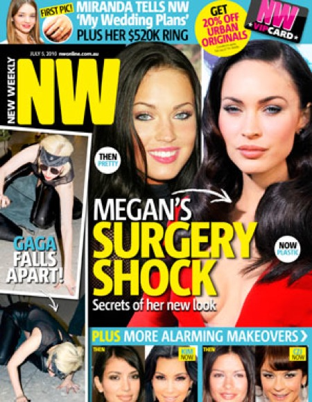 Megan Fox New Weekly cover addressing her plastic surgeries