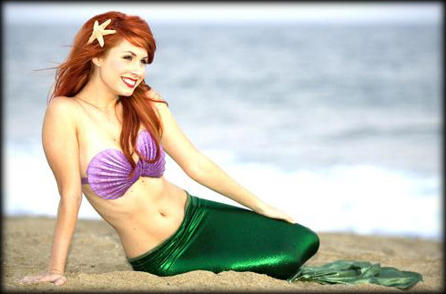 Traci Hines as a sexy Little Mermaid