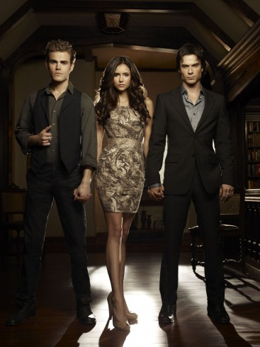 THE VAMPIRE DIARIES wallpaper photo Stefan, Elena and Damon
