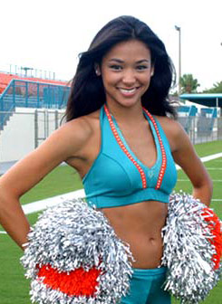 Brenda Lowe in her sexy Miami Dolphins cheerleader uniform