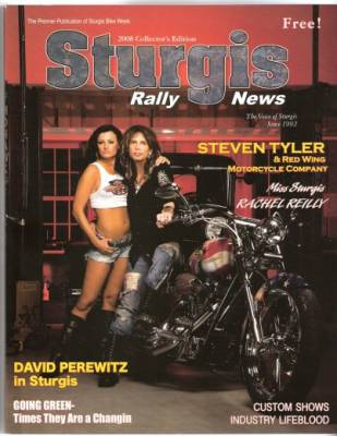 Rachel Reilly on the cover of the 2008 Sturgis Rally News