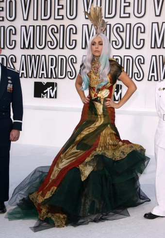 Lady Gaga in Alexander McQueen at the 2010 MTV Video Music Awards 3