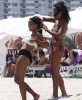 Angela Simmons in a sexy bikini in Miami photo 4