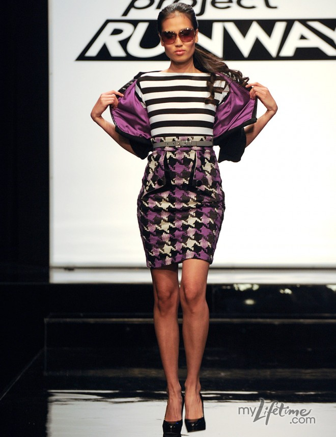 Project Runway Mondo's winning design from the Jackie O challenge