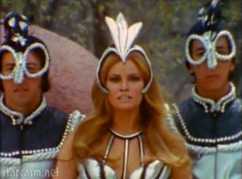 Space Girl Raquek Welch and her Spacemen backup dancers