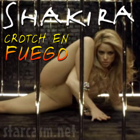 Shakira album cover for Crotch En Fuego