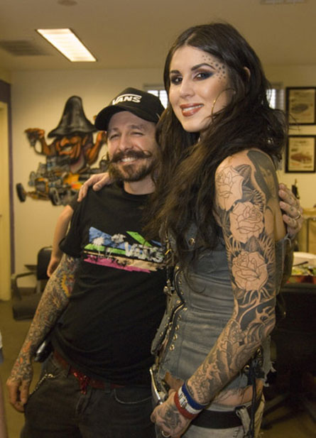 Kat Von D and her ex-husband Oliver Peck
