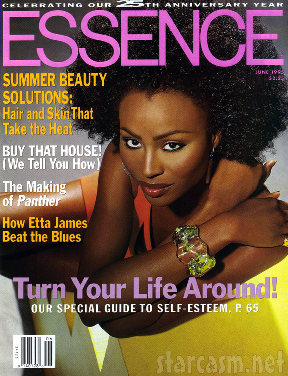 Cynthia Bailey's first Essence cover from 1995