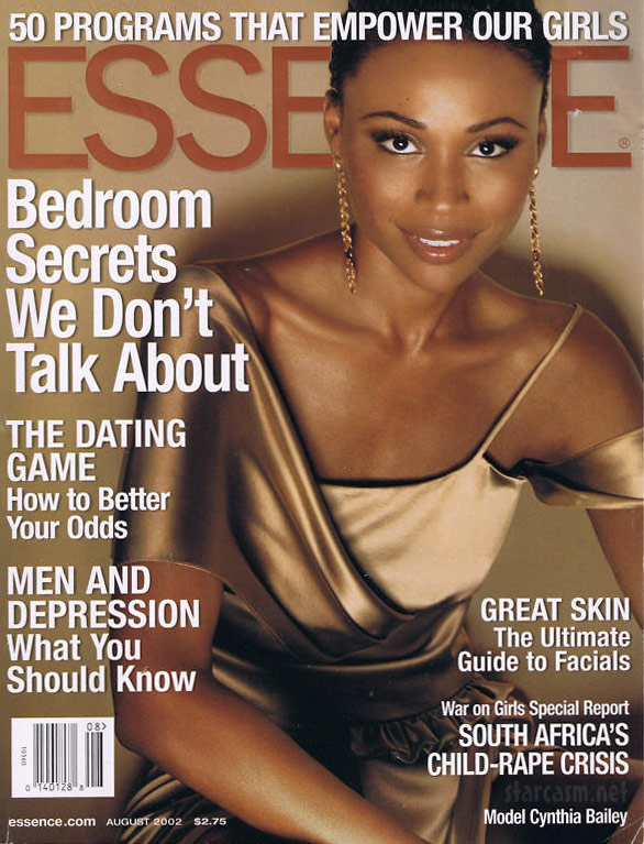 Cynthia Bailey Essence cover from August 2002