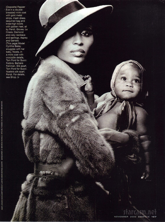 Cynthia Bailey and daughter Noelle in Essence magazine