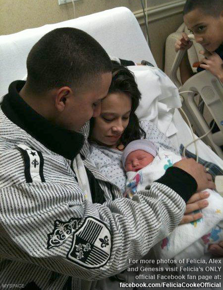 Felicia Cooke boyfirend Alex Gutierrez and their daughter Genesis Gutierrez