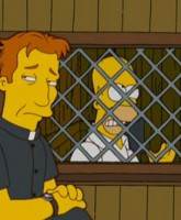 Homer Confesses at Catholic church