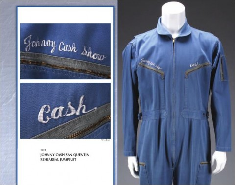Johnny Cash Blue Embroidered Jumpsuit